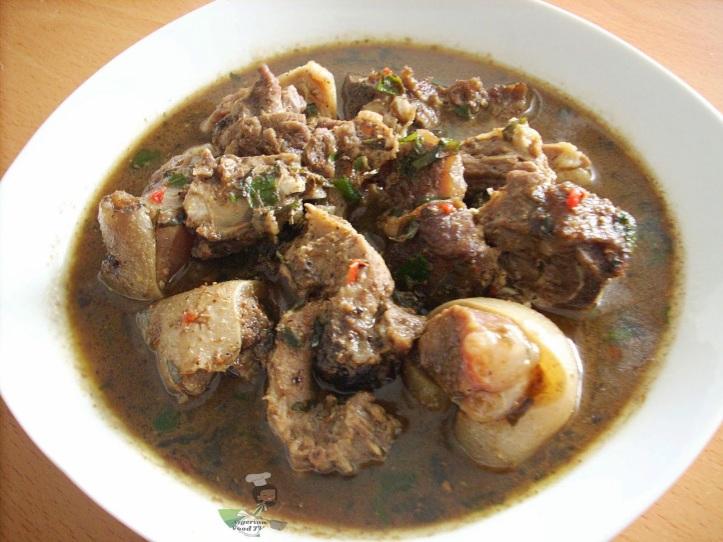 Nigerian Goat meat pepper soup 1